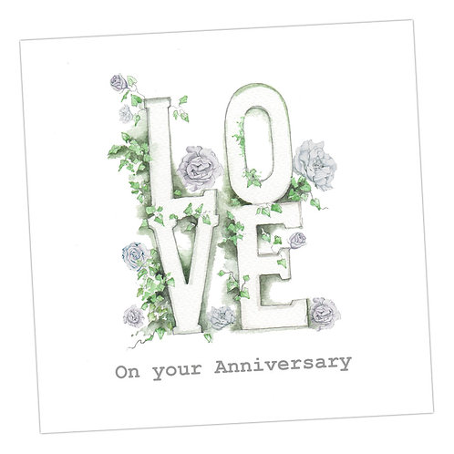 Love Letters Anniversary Card