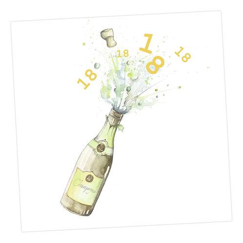 Champagne 18th Card