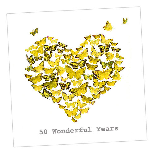 Butterfly 50th Anniversary Card