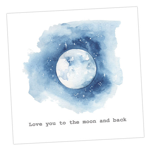 Love You To The Moon.....Card