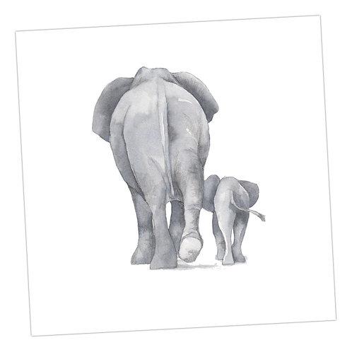 Baby Love Elephants Card