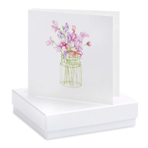 Boxed Sweet Pea Earring Card
