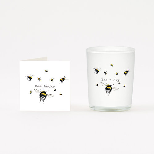 Bee Lucky Boxed Candle & Card