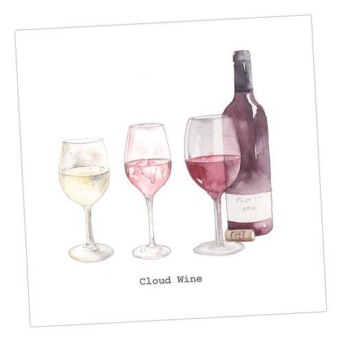 Cloud Wine Card