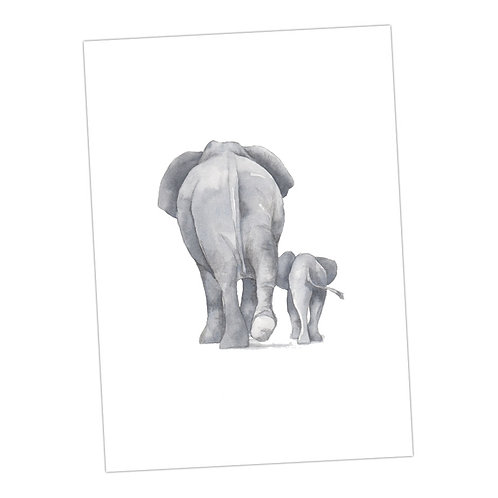 Baby Love Elephants Print