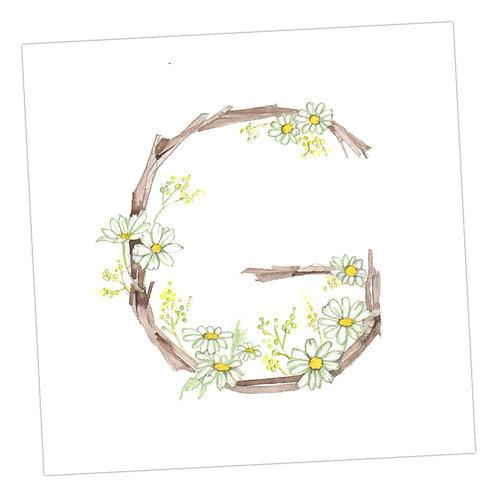 Floral Letters G