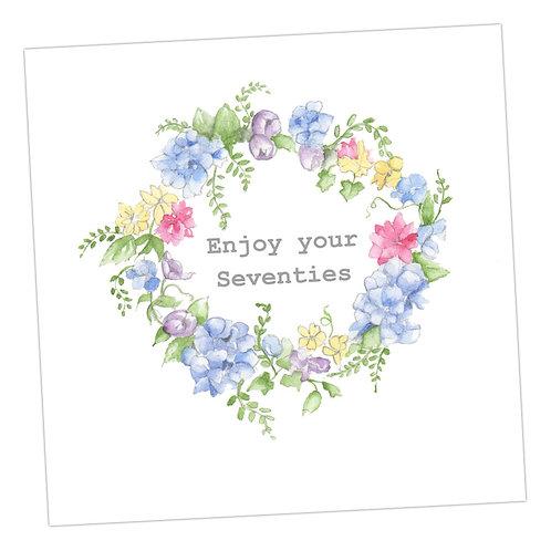 70's Wreath Card