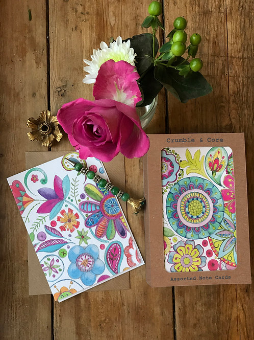 Boxed 'Boho' pack of assorted A6 cards