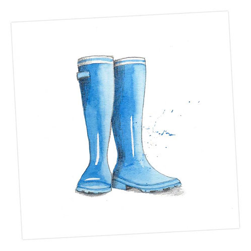 Blue Wellies Card