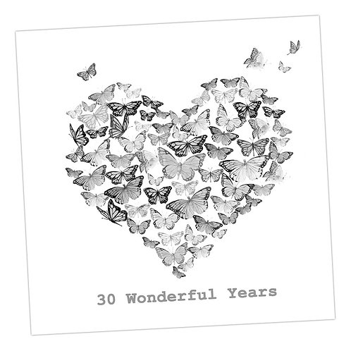 Butterfly 30th Anniversary Card