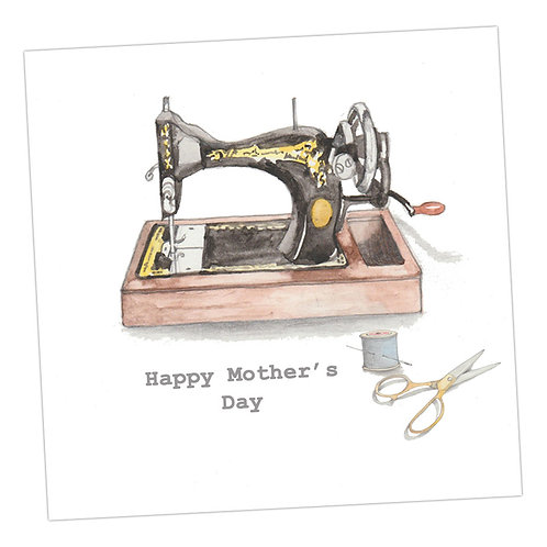 Vintage Sewing Machine Mother's Day Card