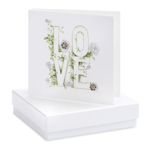 Boxed Love Letters Earring Card
