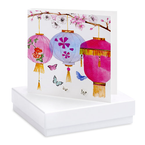 Boxed Chinese Lanterns Earring Card