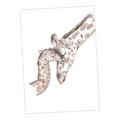 Baby Love Giraffes Print