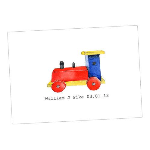 Train Personalised Print