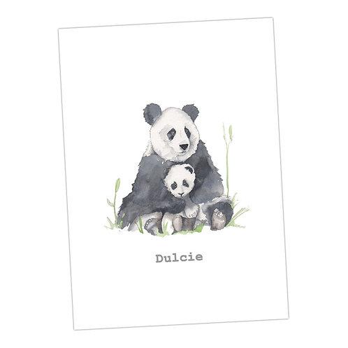Pandas Personalised Print