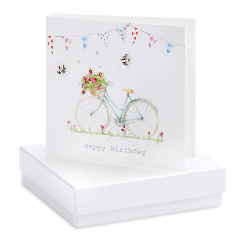 Boxed Birthday Bicycle Earring Card
