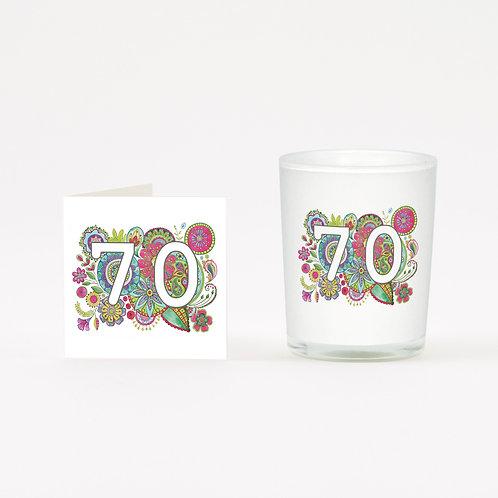 Boho 70 Boxed Candle & Card