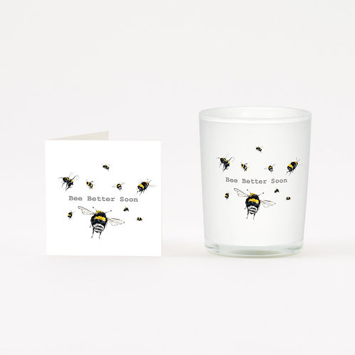 Bee Better Soon Boxed Candle & Card