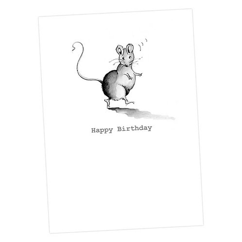 Monty Mouse Birthday Card