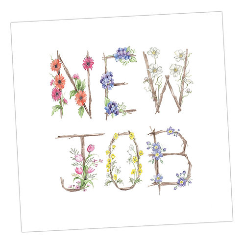 Floral Letters New Job