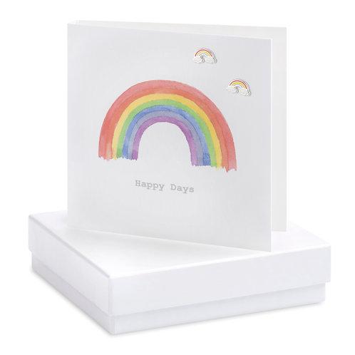 Boxed Earring Card Rainbow