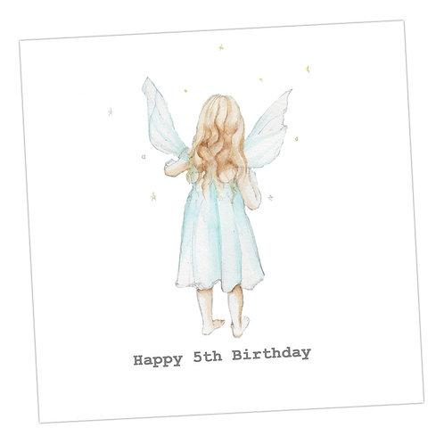 Fairy 5th Birthday Card