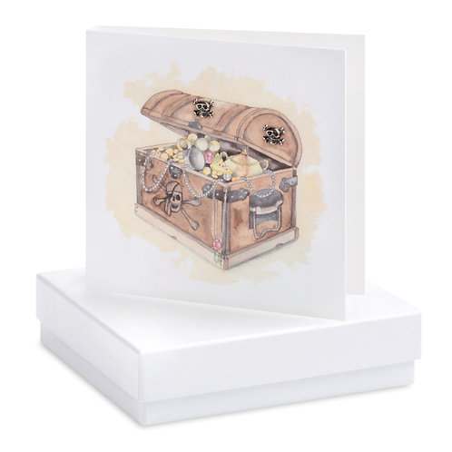 Boxed Treasure Chest Earring Card
