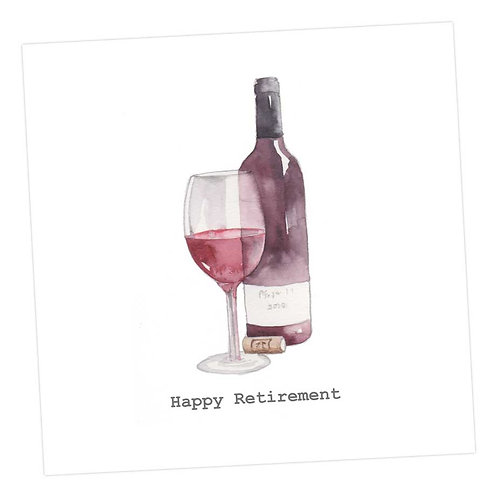 Red Wine Retirement Card
