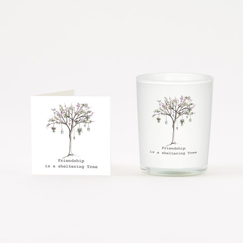 Blossom Friendship Tree  Boxed Candle & Card