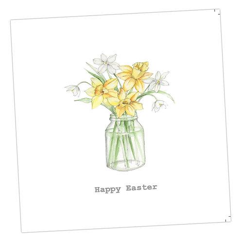 Daffodils Easter Jar Card