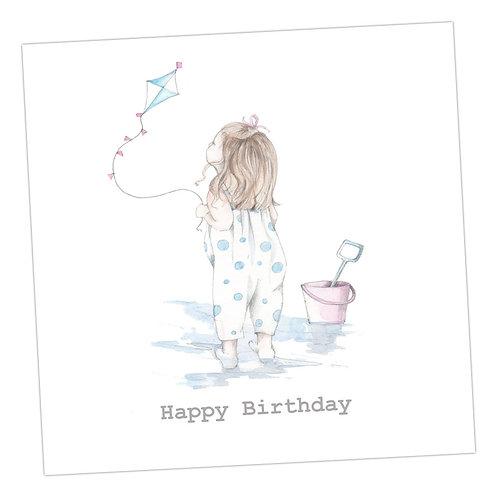 Kite Flying Birthday Card
