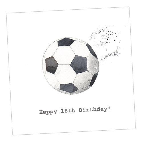 Football 18th Card