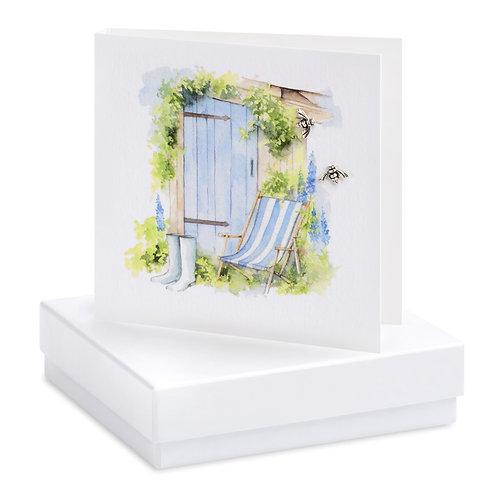 Boxed Deckchair Earring Card