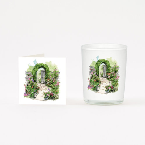 Walled Garden Boxed Candle & Card