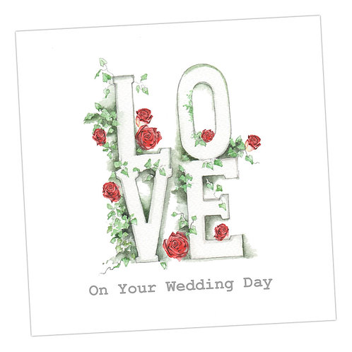 Love Letters Wedding Card