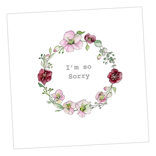 Sorry Floral Wreath