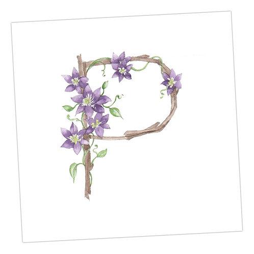 Floral Letters P
