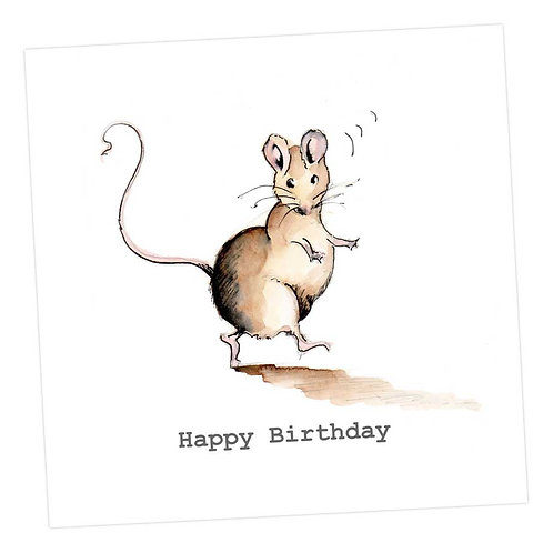 Monty Mouse Happy Birthday Card