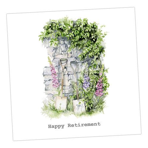 Garden Wall Retirement Card