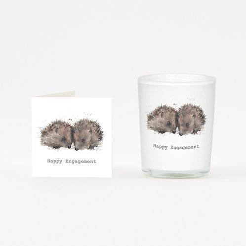 Hedgehogs Engagement Boxed Candle & Card