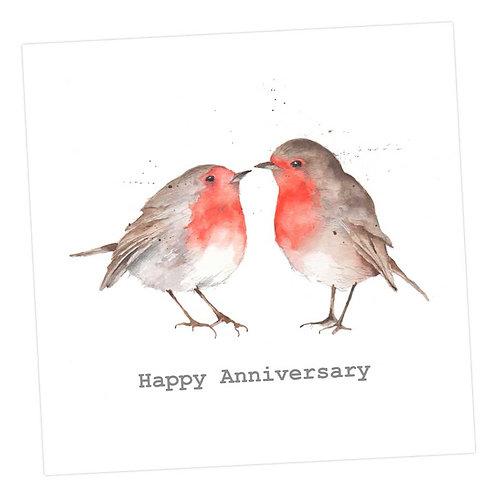 Kissing Robins, Anniversary Card