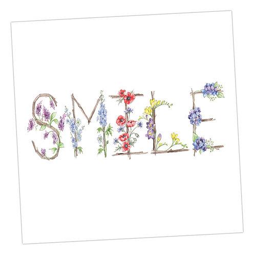Floral Letters Smile