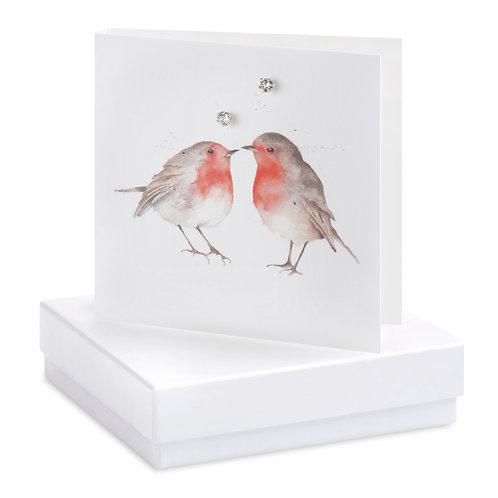 Boxed Earring Card Robins Blank
