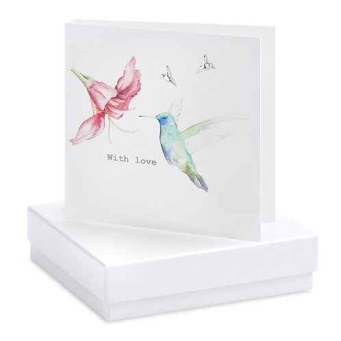 Boxed Earring Card Hummingbird
