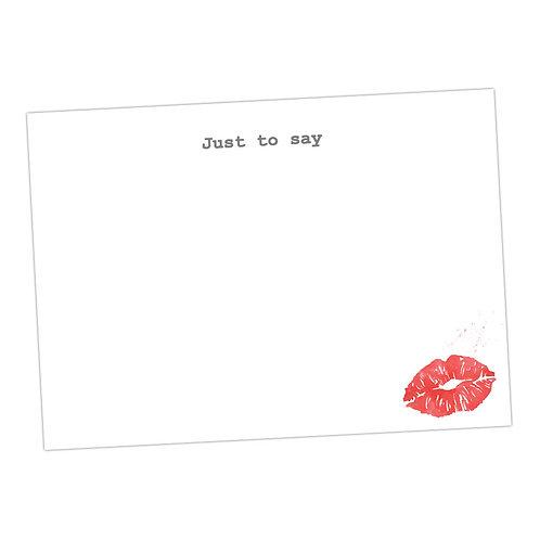 Lips Mwaww Notecards