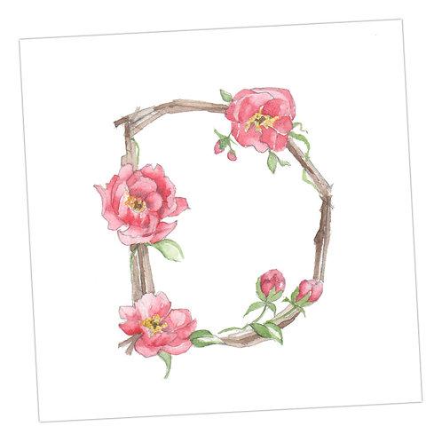 Floral Letters D