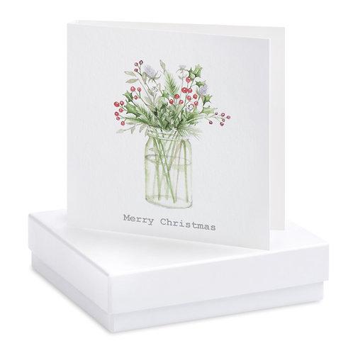 Boxed Christmas Jar  Earring Card