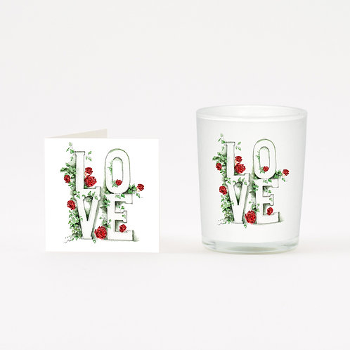 Love Letters Boxed Candle & Card