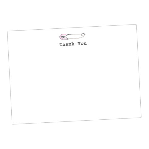 Baby Pink Pin Note Cards